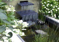 Pretty family garden with raised pond 1.jpg