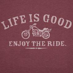 Men's Enjoy The Ride Motorcycle Short Sleeve Crusher Vee Life is good Harley Bikes, Harley Davidson Motorcycles, Motorcycle Riding Quotes, Motorcycle Memes, Stickers Citation, Enjoy The Ride, Bike Quotes, My Ride, Life Is Good