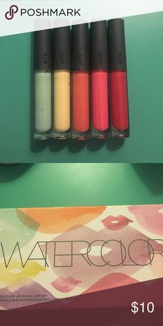Rainbow of lipglosses! 🌈 Bite Beauty 5 lipglosses from Bite Beauty, all new and unopened! They come in a cute kit. (I don't have the whole watercolor kit.) Bite Beauty Makeup Lip Balm & Gloss