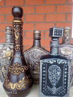 мои бутылочки! декорирую, чтоб тара сильно не скапливалась!...( друзья все несут и несут) фото 1