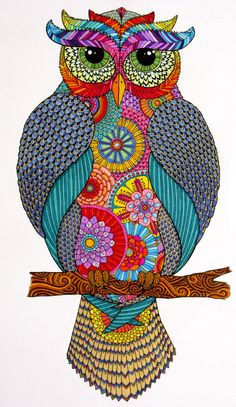 I like the patterns present in this image, but I wouldn't draw the owl (to keep this image halal). -Teacher Danna