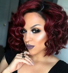"""12"""" Wavy Wigs For African American Women The Same As The Hairstyle In The Picture - Human Hair Wigs For Black Women"""