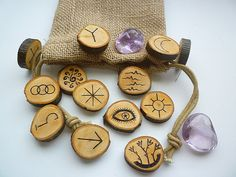 Witch Rune Set wiccan pagan by Witchstore on Etsy