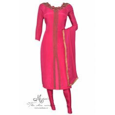 Elegant magenta suit adorn in rich exquisite embroidery-Mohan's the chic window