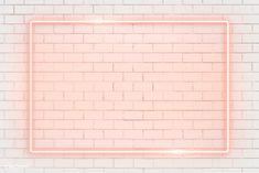 Rectangle orange neon frame on an orange brick wall vector Youtube Banner Design, Youtube Banner Template, Youtube Banners, Intro Youtube, Youtube Logo, Youtube Hacks, Youtube Banner Backgrounds, Neon Backgrounds, Overlays Instagram
