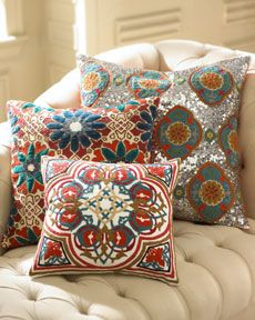 love the teal, green, red, and orange! Love these colors together. Going to do teal, red & brown in my next living room.