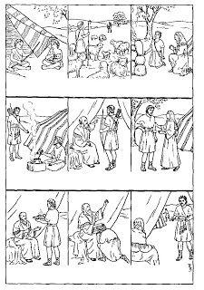 esau forgives jacob coloring pages - photo#22