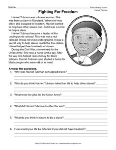 QuickPlan Lesson Idea: Did you know Harriet Tubman Day is March ...