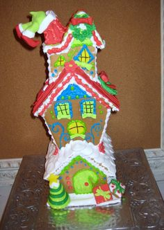 Whoville Inspired 3-story Gingerbread house from Sweettreatsatlanta.com