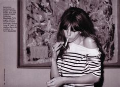lou doillon, but yuck to the ciggy.