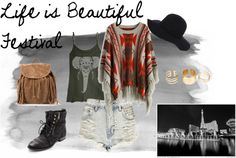 Life is Beautiful outfit #musicfestival #summer #bohemian #outfit