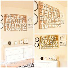 Antlers & Roses: Repurposed Wood Pallet: Alphabet Wall Hanging