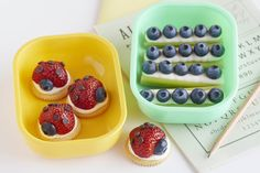 Transform strawberries and blueberries into a fun treat perfect for lunch or an afternoon snack. Have kids help create bugs and ants and wha