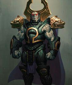 Omega King Darkseid by Phroilan Gardner on ArtStation Comic Villains, Superhero Villains, Dc Comics Characters, Marvel Dc Comics, Dc Comics Art, Dc Heroes, Comic Book Heroes, Comic Books Art, Darkseid Dc