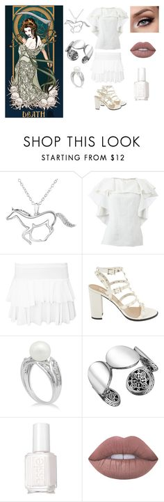 """""""The Four Horsemen: Death"""" by foreverhomestuck413 ❤ liked on Polyvore featuring ASPCA, Lanvin, WearAll, Valentino, John Hardy, Essie and Lime Crime"""