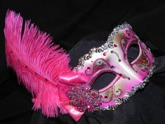Pink masquerade mask from Etsy.com