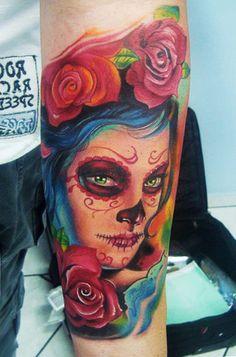 Tattoo Artist - Henry Anglas Padilla - muerte tattoo   www.worldtattoogallery.com