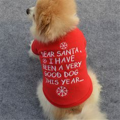 Pet Dog Christmas Clothes Puppy Cat Hoodie Coat Xmas Warm Outfit Sweater Red SF