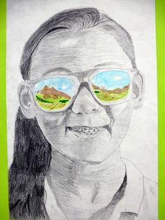 "Self-Portraits with ""summer views"" - can be modified to future or dream travel plans"