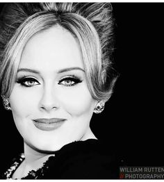 So, so, beautiful. so, so just herself - no pretenses. Catch her Carpool Karaoke segment with James Corden on You Tube! Black And White Portraits, Black White Photos, Adele Music, Adele Photos, Adele Adkins, Black Picture, Magic Eyes, Stunningly Beautiful, Frames