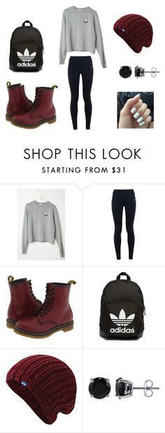 """Hipster/Urban School Outfit"" by vickerygk on Polyvore featuring NIKE, Dr. Martens, adidas Originals, Keds, BERRICLE, women's clothing, women's fashion, women, female and woman"