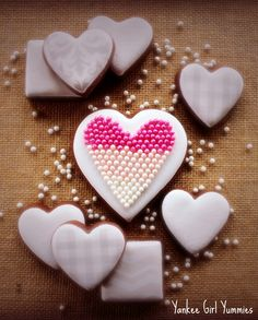 Ombre Heart Set