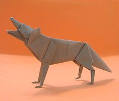 Origami Wolf By Jun Maekawa Folded Gilad Aharoni