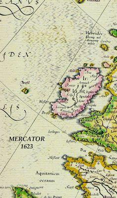 Hy-Brasil, isla que apareció en mapas desde 1325 hasta el fin del siglo XIX, la cual se localizó a 193 km al oeste de Irlanda, e inspiró muchas historias y mitos de mar.   Marineros reportaron que Hy-Brasil estaba continuamente oscurecida por neblina, excepto por un día cada siete años y después fue clasificada como una isla fantasma