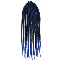 Royal Blue Two Colors Ombre Crochet Braid Hair Extensions, Hair Braids ...