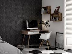 Rhombus Tiles by Equipe. Ceramic Floor Tiles, Wall And Floor Tiles, Porcelain Floor, Cement Tiles, Contemporary Tile, Contemporary Bedroom, Rhombus Tile, Tile Suppliers, Tile Stores