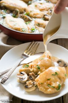 This easy Gluten Free Chicken Marsala recipe is made in one pan in less than thirty mins! You can make it Paleo too, nice served with pasta or mashed potatoes.