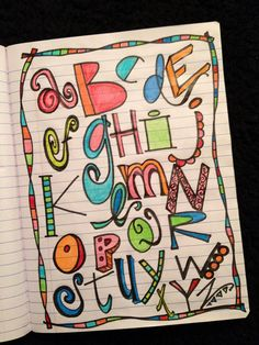 cool alphabet doodling and letters ~ prismacolor pencils ~ Alpha practice by denisedaysmith, via Flickr