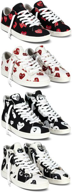 2532eae43ec The top pair are on my Christmas list 😍 ▻Play Comme des Garcons x Converse  Pro Leather