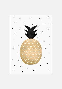 Golden Pineapple of Elisabeth Fredriksson now on JUNIQE! Filofax, Throw Pillow Covers, Throw Pillows, Duvet Covers, Deco Jungle, Plakat Design, Self Adhesive Wallpaper, Grafik Design, Hipsters