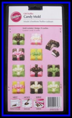 New with insert  15 molds, 1 designsNEW! Wilton ***GIFT TRUFFLES*** Candy Mold