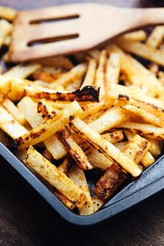 Jicama fries are a great twist on the traditional side dish. Lime juice and plenty of spices make them a perfect pairing with fajitas or a torta.