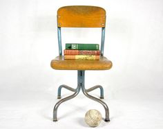 Traditional vintage school chair.