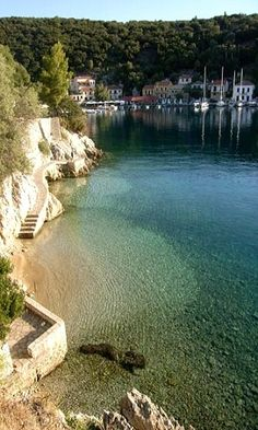 Kioni, Ithaca Island, (near kefalonia) Greece Oh The Places You'll Go, Places To Travel, Places To Visit, Dream Vacations, Vacation Spots, Greek Island Holidays, Ithaca Greece, Myconos, Places In Greece