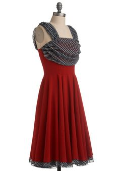 I like the draping on this dress, though I would say the straps are a bit too wide.