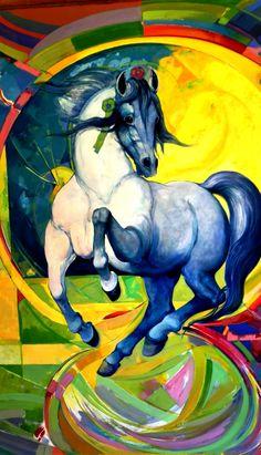 """Palacio de Villavicencio en el Alcázar de Jerez de La Frontera. Exposición """"Equus"""". Palace of Villavicencio in the Alcázar de Jerez de La Frontera. Exhibition """"Equus""""."""