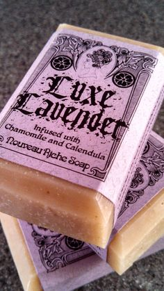 Luxe Lavender Soap with Chamomile and by NouveauRicheSoap on Etsy, $4.00