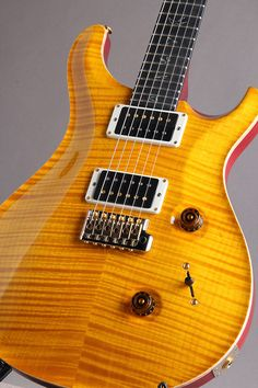Paul Reed Smith Wood Library Japan Limited Custom 24 10Top Ebony Fingerboard Vintage Yellow 2014