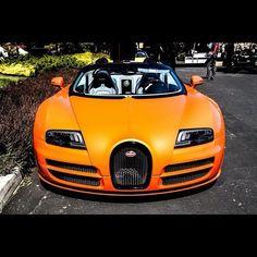 Orange Bugatti Veyron Grand Sport http://www.autotraderglobaltrading.com/index.php/cars