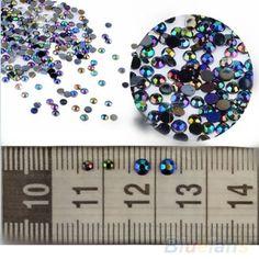 Vendita calda 300 pz 3D Punte di Arte Del Chiodo gemme di Cristallo di Scintillio Strass FAI DA TE Decorazione + Wheel 03XW