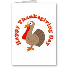 Happy Thanksgiving Turkey Card