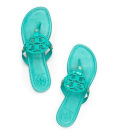 Already pining for Summer to be here.  Tory Burch Patent Leather Miller Sandal