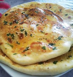 Naan - one of the most popular Indian bread served in Indian restaurants.