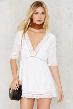 Eden Embroidered Mini Dress   Shop Clothes at Nasty Gal!