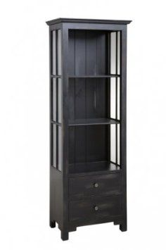 Amazon.com: 64656 Tall Open Bookcase with 2 Drawers and 3 Shelves::