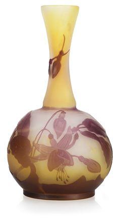 Emile Gallé Art Nouveau cameo glass vase